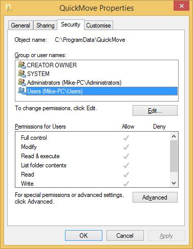 QMProgramDataRights